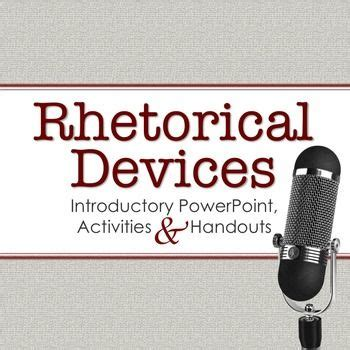 Rhetorical Devices - Research Paper by Catsayswhat